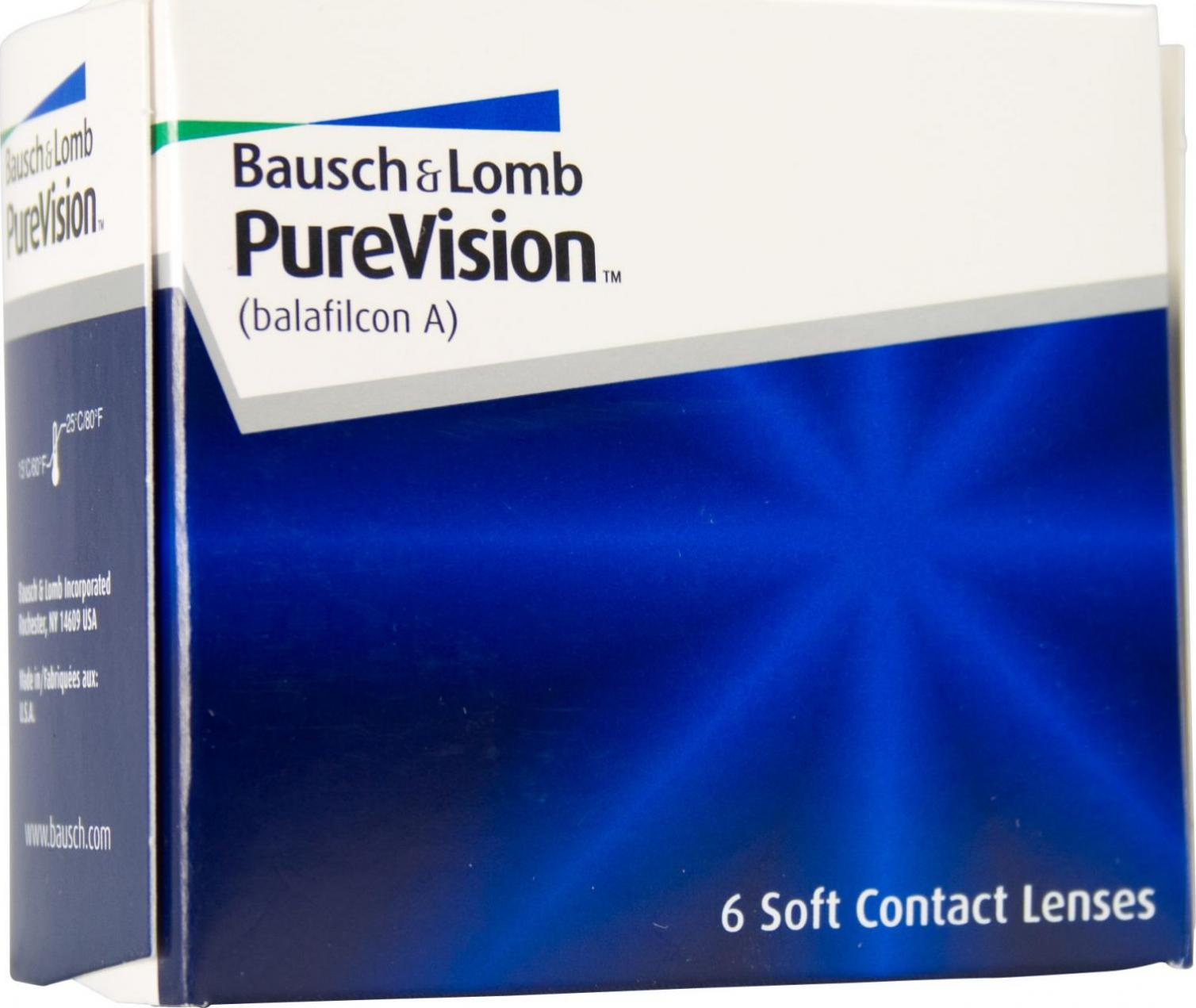 Bausch & Lomb PureVision Spheric -9.00 (6 Stk.)